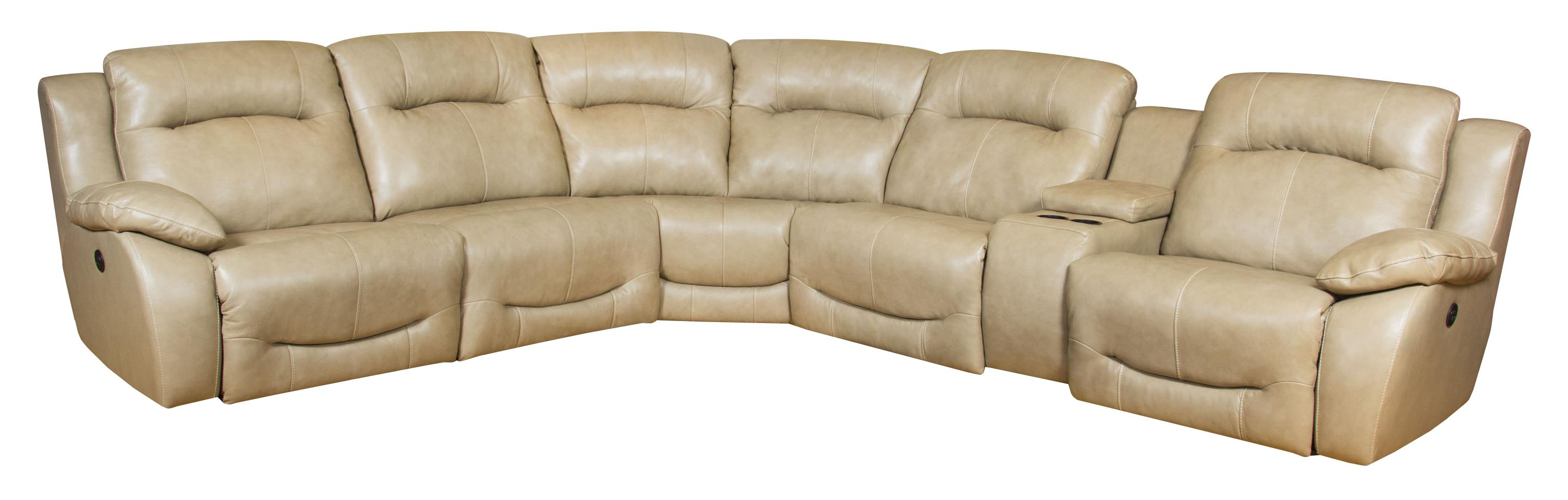 Southern Motion Eclipse Corner Shaped Power Reclining Sectional  - Item Number: 566-07P+92+84+92+47+08P-957-17