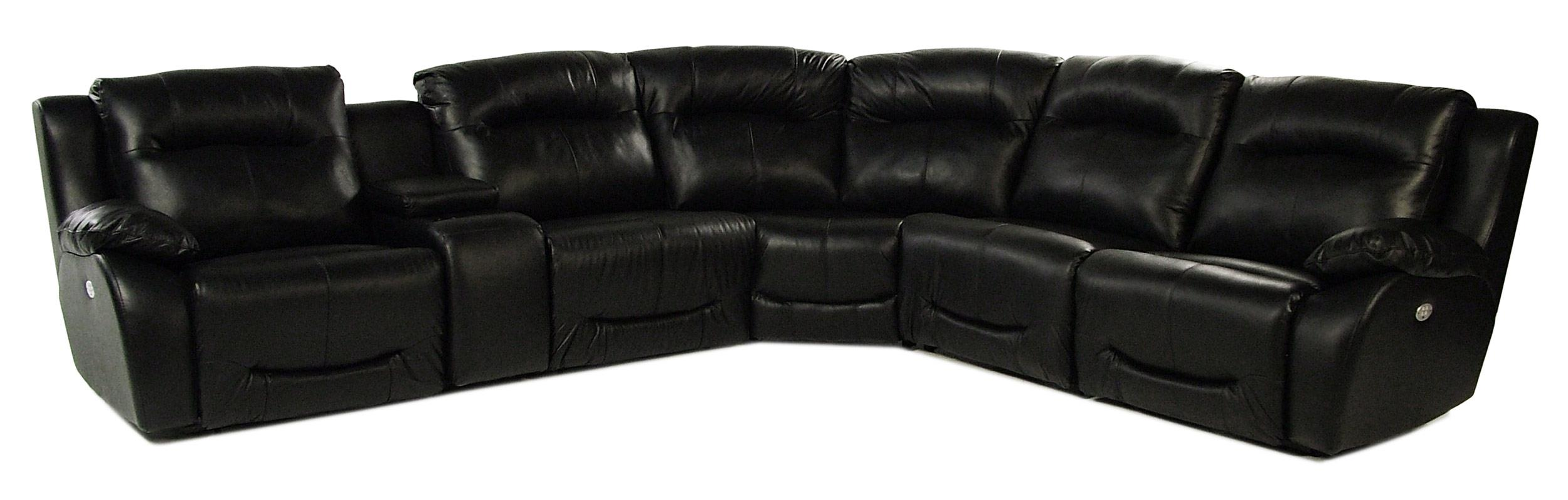 Design to Recline Raven 6PC Leather Power Reclining Sectional  - Item Number: 566-6PC-SECT