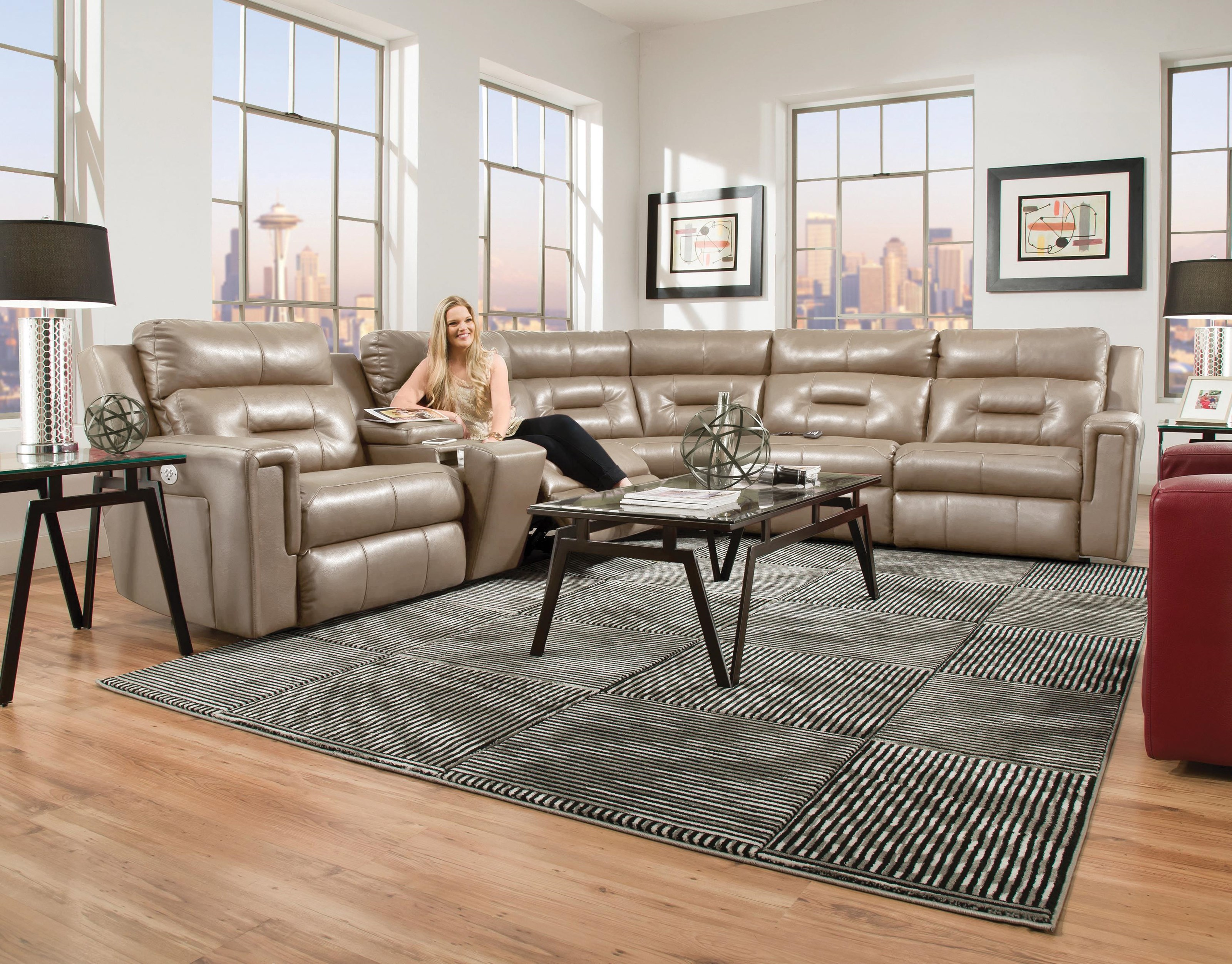 excel 6 piece power sectional by Southern Motion at Johnny Janosik