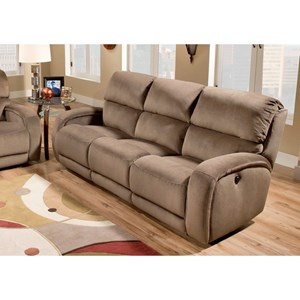 Casual Power Headrest Reclining Sofa with 2 Pillows and SoCozi Massage