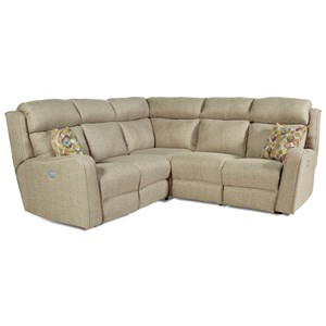 Southern Motion First Class - 718 Power Reclining Sectional Sofa with 4 Seats