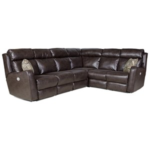 Southern Motion First Class - 718 Power Reclining Sectional Sofa with 5 Seats