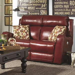 Southern Motion First Class - 718 Double Reclining Loveseat w/ Two Pillows