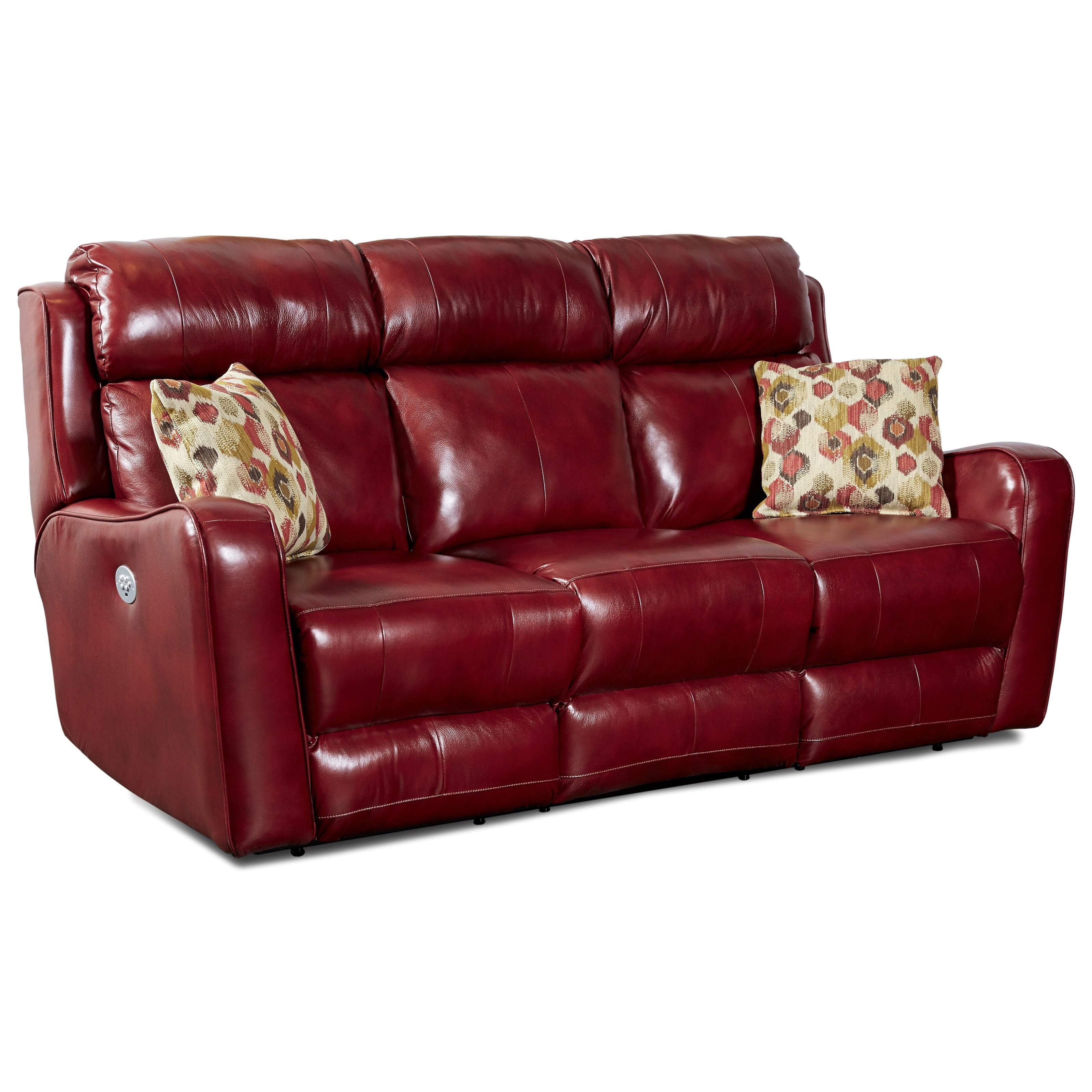 Comfortzone First Class 718 Double Reclining Sofa With Pillows Power Headrest Ruby Gordon