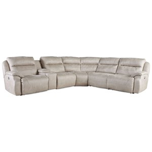 Southern Motion Five Star Power Headrest Five Seat Reclining Sectional