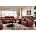 Southern Motion Flight Contemporary Power Reclining Sofa with Power Headrest