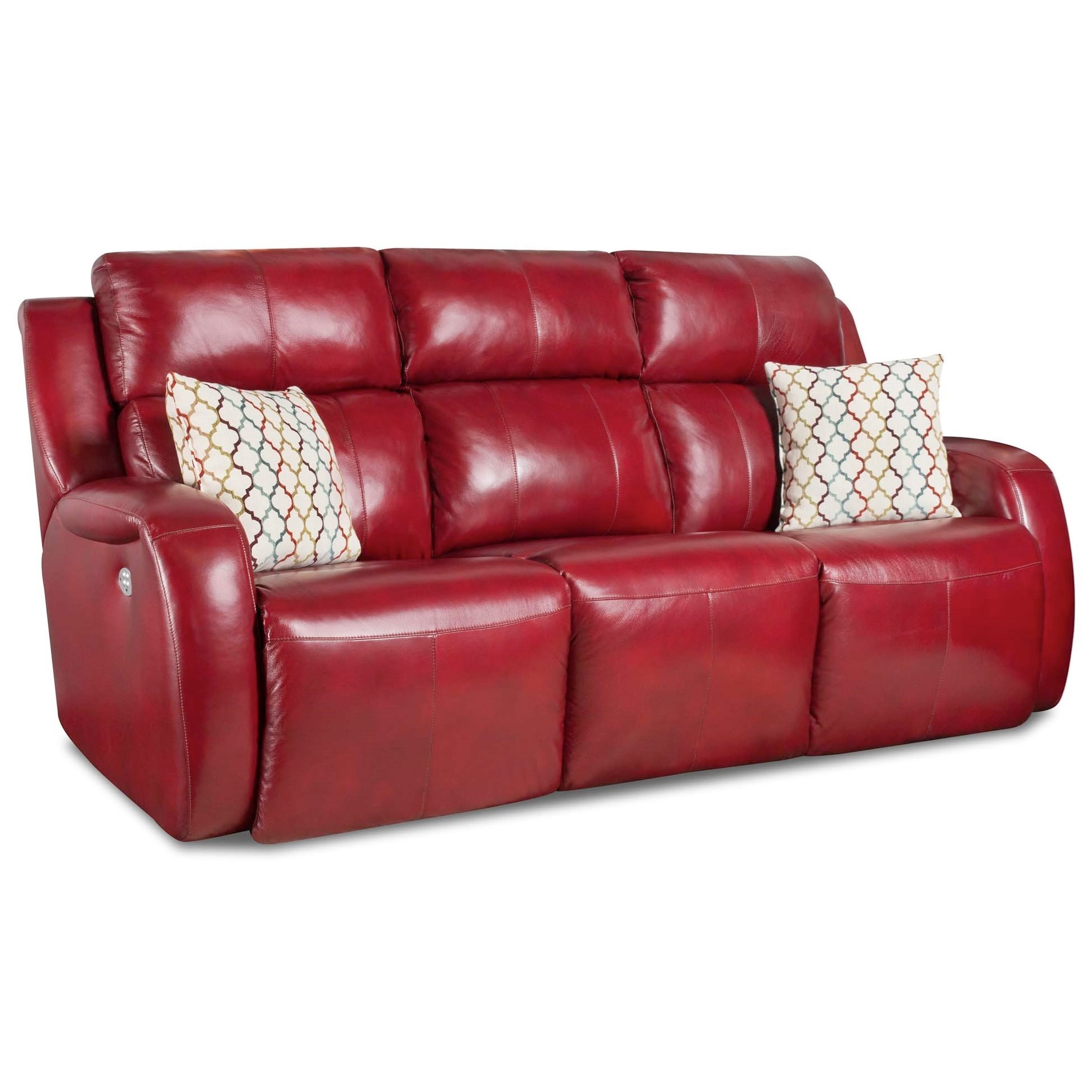 Southern Motion Grand Slam Reclining Sofa w/ Pillows and Power Headrest - Item Number: 864-62P-906-42