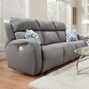 Southern Motion Grand Slam Double Reclining Sofa with 2 Pillows - Item Number: 864-32P-248-14