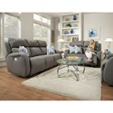 Southern Motion Grand Slam Double Reclining Sofa with 2 Pillows