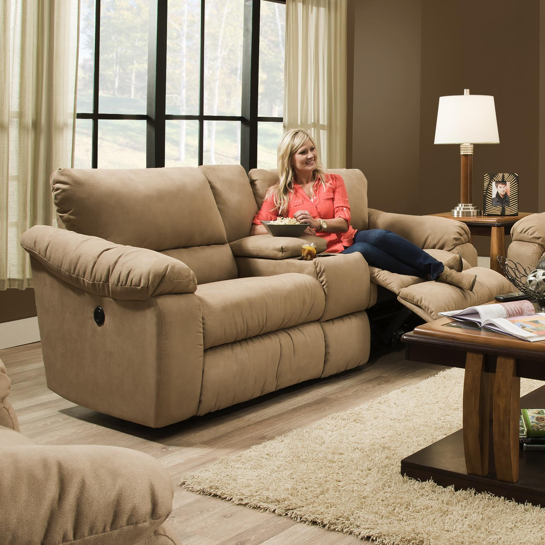Southern Motion Gravity Double Reclining Console Sofa - Item Number: 867-28-296-16