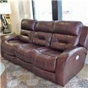 Belfort Motion Gregory Reclining Sofa w/ Power Headrest and Lumbar  - Item Number: 902403119