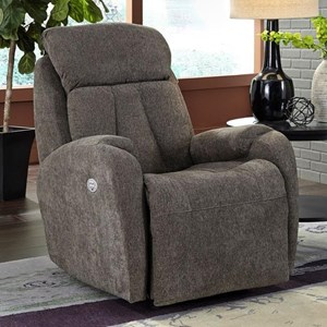 Southern Motion Hard Rock Wall Hugger Recliner with Power Headrest
