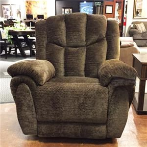 Elegant Southern Motion High Profile Brown Reclining Chair