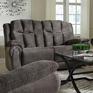 Southern Motion High Profile Double Reclining Loveseat w/ Power Headres