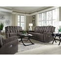 Southern Motion High Profile Double Reclining Sofa - Actual Recline Handle/Button May Differ From What is Shown