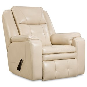 Casual Swivel Rocker Recliner with Pillow Arms