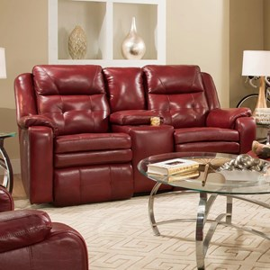 Power Plus Reclining Loveseat with Console