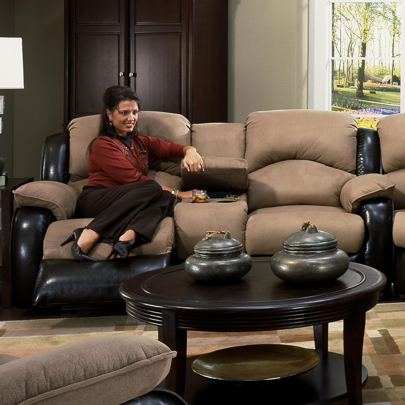 Southern Motion Jolson Power Reclining Console Sofa - Item Number: 706-28 PWR