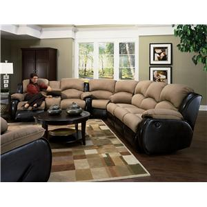 Design to Recline Jolson Reclining Sectional Sofa
