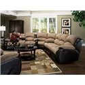 Southern Motion Jolson Reclining Sectional Sofa - Item Number: 706-28+706-31+706-83