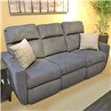Belfort Motion Justin Reclining Sofa w/ Power Headrest - Item Number: 186294847