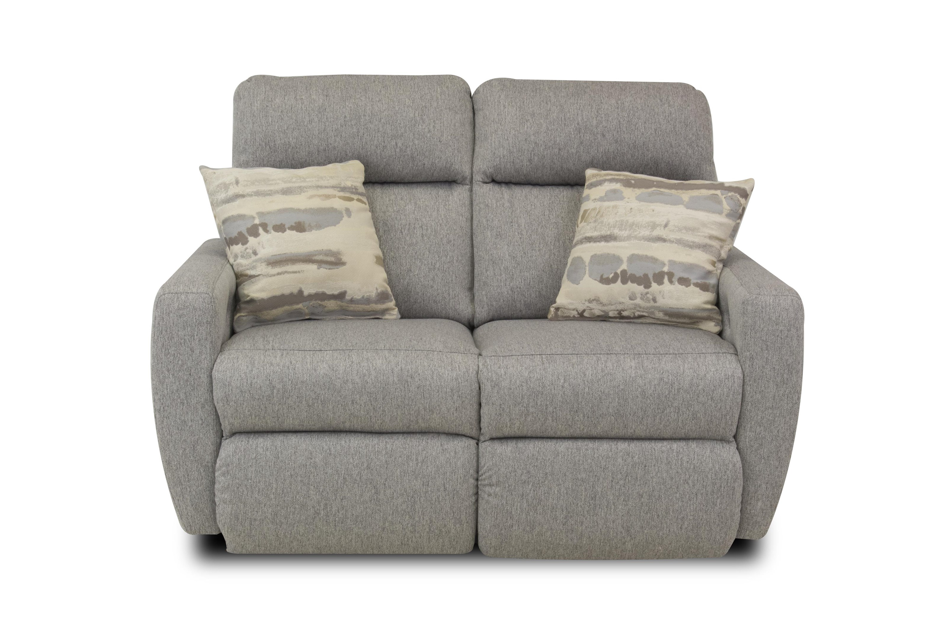 ComfortZone Knock Out Reclining Loveseat w/ Pillows & Pwr Headrest - Item Number: 16865-PPRL