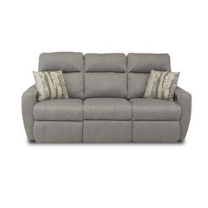 ComfortZone Knock Out Reclining Sofa with Pillows & Power Headrest