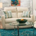 Southern Motion Knock Out Double Reclining Loveseat with 2 Pillows - Item Number: 865-22-956-15