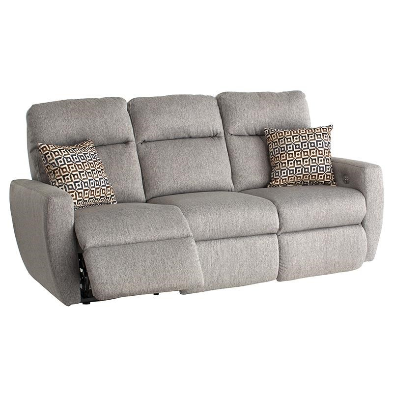 Southern Motion Knock Out Double Reclining Sofa With 2 Pillows And