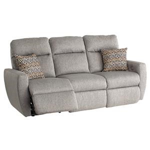 Reclining Sofa with Pillows & Power Headrest