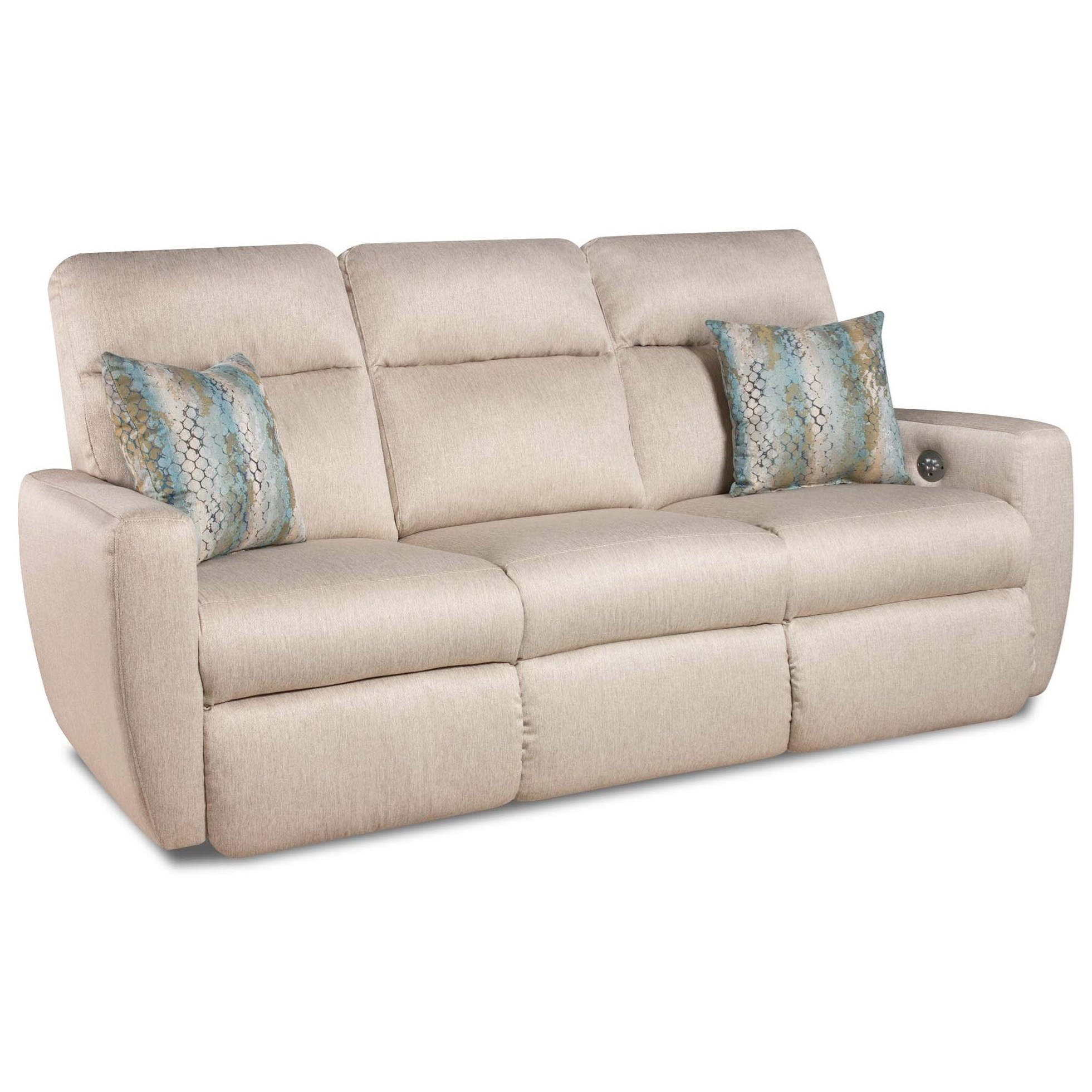 Southern Motion Knock Out Reclining Sofa with Pillows u0026 Power Headrest - Item Number 865  sc 1 st  Becker Furniture World & Southern Motion Knock Out Double Reclining Sofa with 2 Pillows and ... islam-shia.org