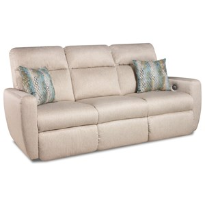 Southern Motion Knock Out Reclining Sofa with Pillows & Power Headrest