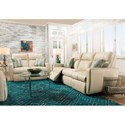 Southern Motion Knock Out Double Reclining Sofa with 2 Pillows