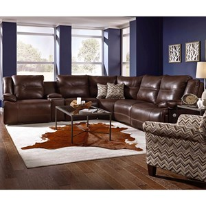 Southern Motion Major League Power Reclining Sectional with Massage