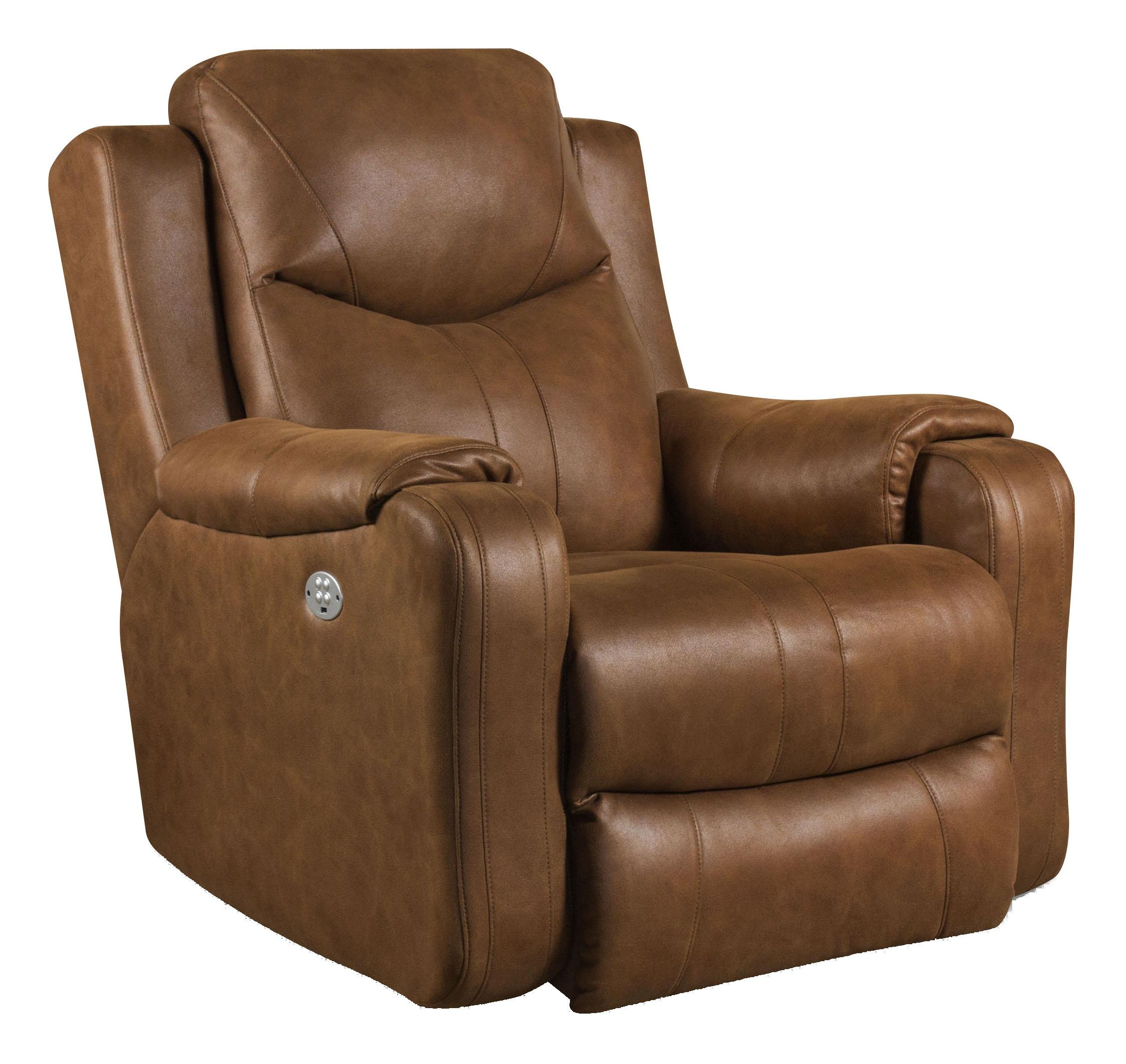 Rocking recliner chairs - Southern Motion Marvel Rocker Recliner With Power Headrest Item Number 5881p 186