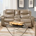 Southern Motion Marvel Double Reclining Sofa with Console - Item Number: 881-28