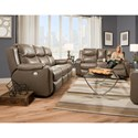 Southern Motion Marvel Double Reclining Sofa with Console