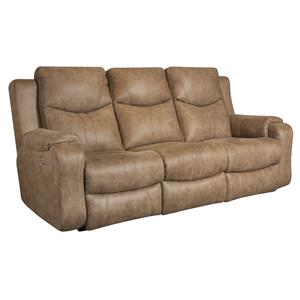 Belfort Motion Levi Double Reclining Sofa with Power Headrests
