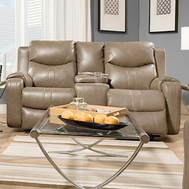 Southern Motion Marvel 881 78p Double Reclining Sofa With Console