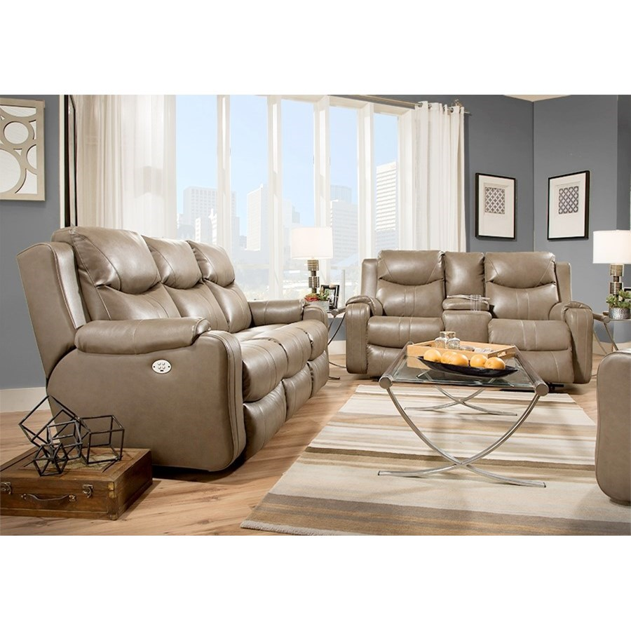 Southern Motion Marvel 881 78p Double Reclining Sofa With