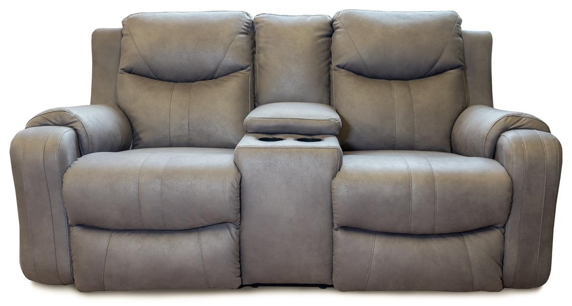 Sundance Reclining Sofa with Console & Power Headrest by Design to Recline at Rotmans