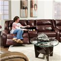 Southern Motion Maverick Power Console Sofa - Item Number: 550-28 O Power