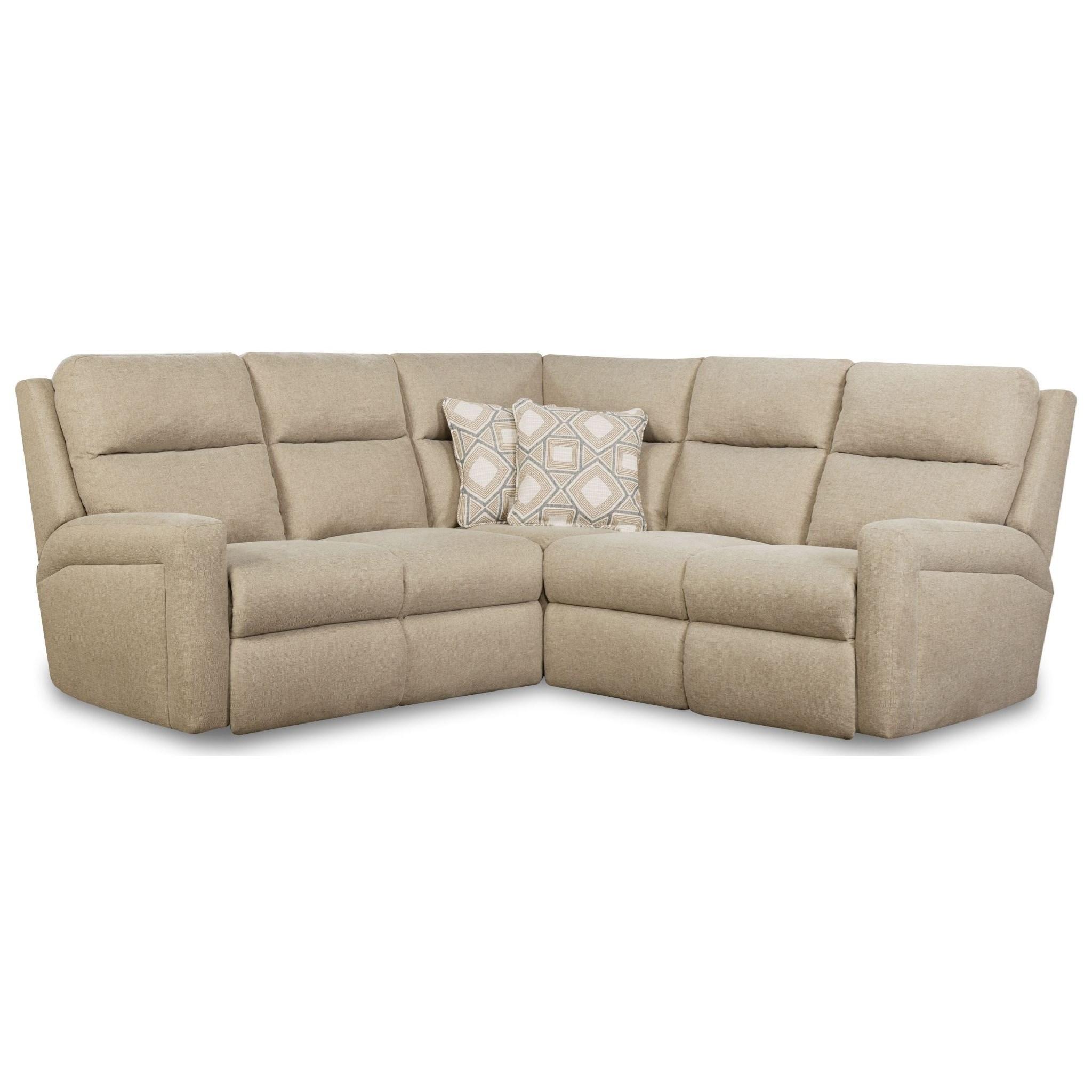 Wireless Power Reclining Sectional Sofa