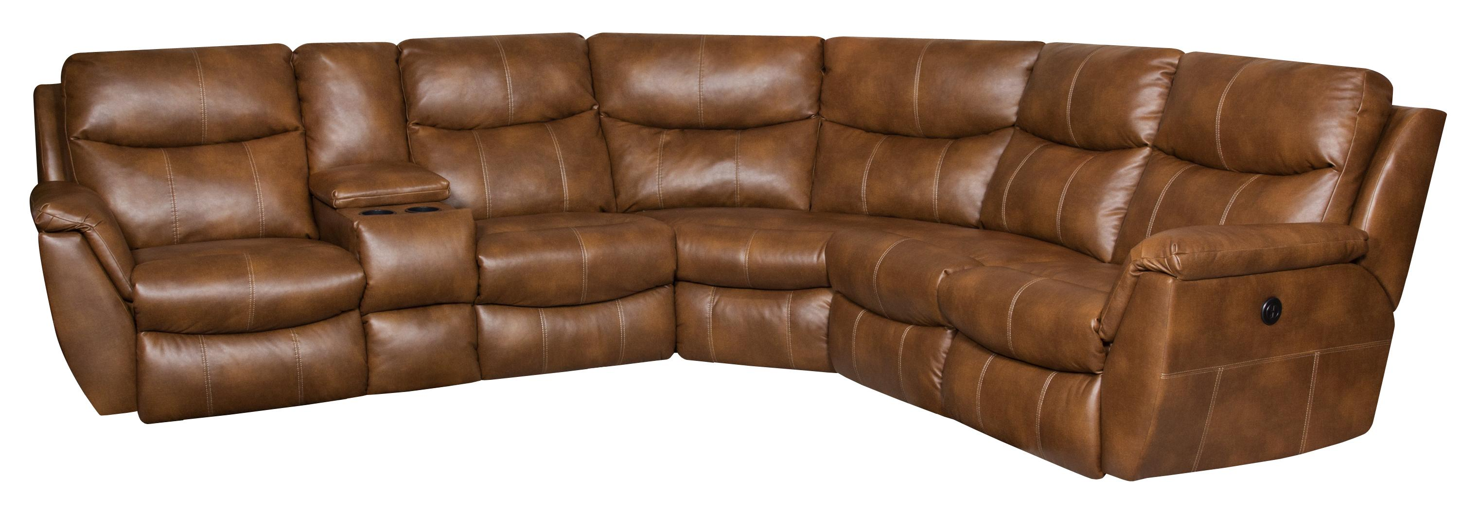 Southern Motion Monaco POWER Reclining Sectional Sofa - Item Number: 564-07P+47+80+84+92+08P-241-17
