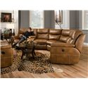 Southern Motion Monaco Reclining Sectional Sofa with 5 Seats - Sectional Shown May Not Represent Exact Features Indicated