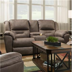 Southern Motion Pandora Double Recl. Console Sofa w/ Power Headrest