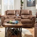 Southern Motion Pandora Double Reclining Console Sofa - Item Number: 751-28-Brown-751