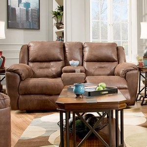 Power Plus Double Reclining Console Loveseat