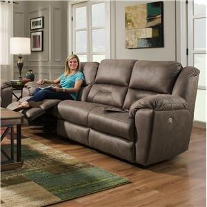 Southern Motion Pandora Reclining Sofa with Power Headrests