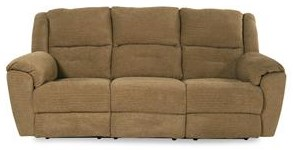 Design to Recline Cashmere Reclining Sofa with Power Headrests